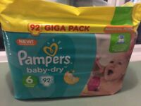 Pampers nappies 92 giga pack size 6