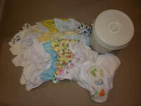 Cloth nappies birth to potty