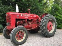 McCormick-Deering WD9 vintage tractor. Diesel. International Harvester