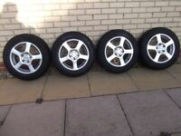 4 x Goodyear ULTRA GRIP 8 Winter Tyres on DOTZ Imola Alloys - 205/60 R15