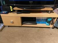 Light wood TV Unit 115cm long - USED
