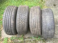 4 car tyres. 205 60 16