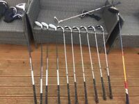 FULL SET FAZER BLIZZARD IRONS / WOODS / HYBRIDS + TAYLORMADE R7 DRIVER