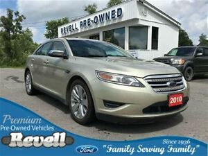 2010 Ford Taurus Limited AWD...1-owner trade, Moonroof, Htd leat