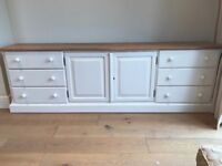 Hand painted TV Cabinet/ Sideboard
