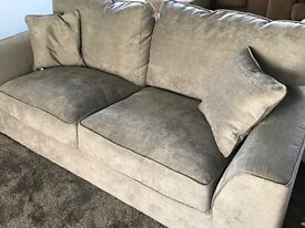 Only one week old matching large grey sofas will sell as a pair or separately £700