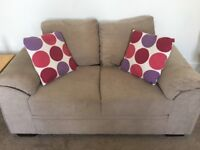 Two light brown sofas, very good condition