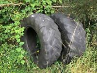 2 large tractor tyres