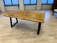 Handmade Rustic Industrial Dining Table | Office Desk