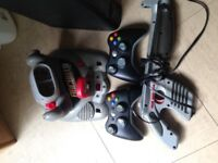 Xbox 360 and 2 controllers ECT