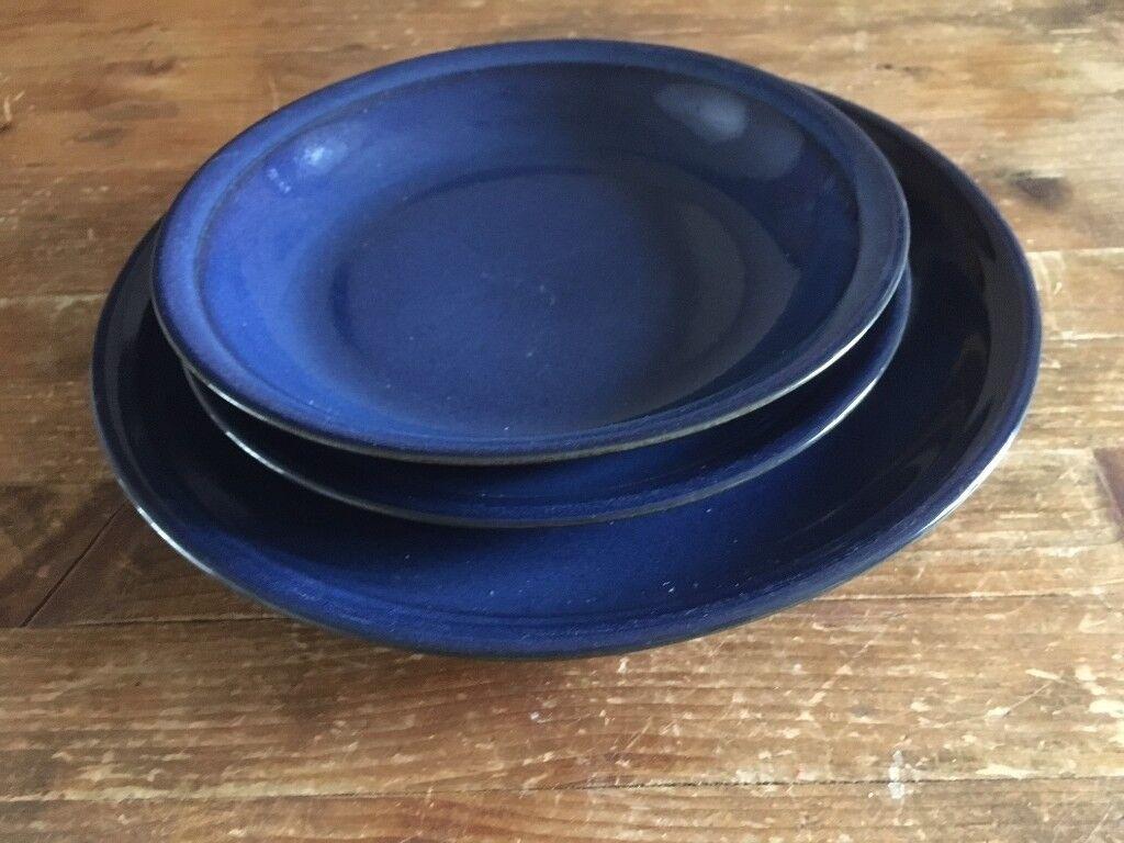 Dark Blue (Cobalt blue) crockery - dinner plates, side plates and bowls