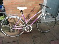 ladies emelle sports bike 19 inch frame with lock and lights £49.00