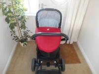 joie chrome 3 in 1 pram/stroller/pushchair/buggy,travel system £140
