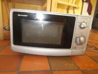 Sharp 800W silver kitchen microwave