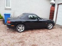 Mazda MX-5 Soft Top Convertible, X-Reg, Black