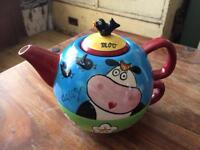 Hand Painted Teapot and cup