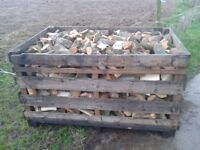 Top quality seasoned hardwood firewood logs for sale. No sparks when burning. Stock up for winter.