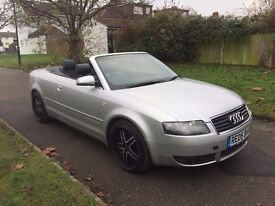 Audi A4 Cabriolet 1.8 T Sport 2dr (CVT)£3,499 p/x welcome CAMBELT CHANGED, FREE WARRANTY