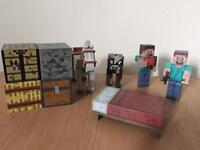 Minecraft action figures and blocks
