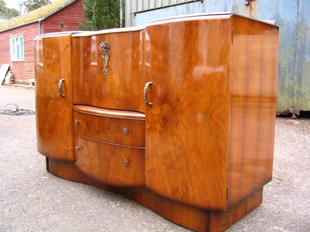Sideboard Tail Bar Drinks Cabinet Dresser C 1960 English Art