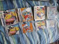 4 Game Boy Color / Advance Empty game cases & manuals
