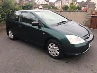 2002 Honda Civic 1.4 petrol full years mot