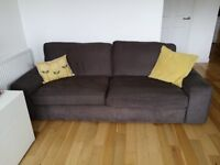 Two seat sofa & three seat sofa bed with footstool