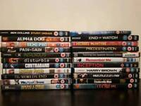 Mixed job lot of DVDs, Blu ray and pc cd