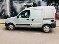 AC/ 5 SEATERS/ FOLDABLE GOOD RUNNER RENAULT KANGOO VAN. GOOD MILEAGE,NO T-CHARGE, LONG MOT.