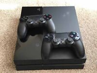 PS4 WITH 2 CONTROLLERS/FIFA16/UFC 2/DRIVERSCLUB