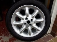 MGF/TF Set of 4 as new alloy wheels and tyres