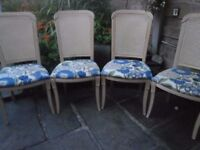 four dineing chairs