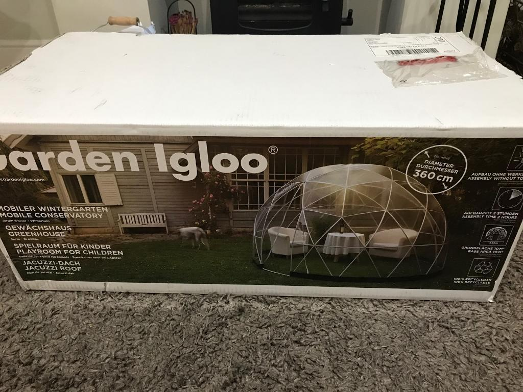 Garden Igloo 360 the garden igloo 360 dome with pvc weatherproof cover - new in box