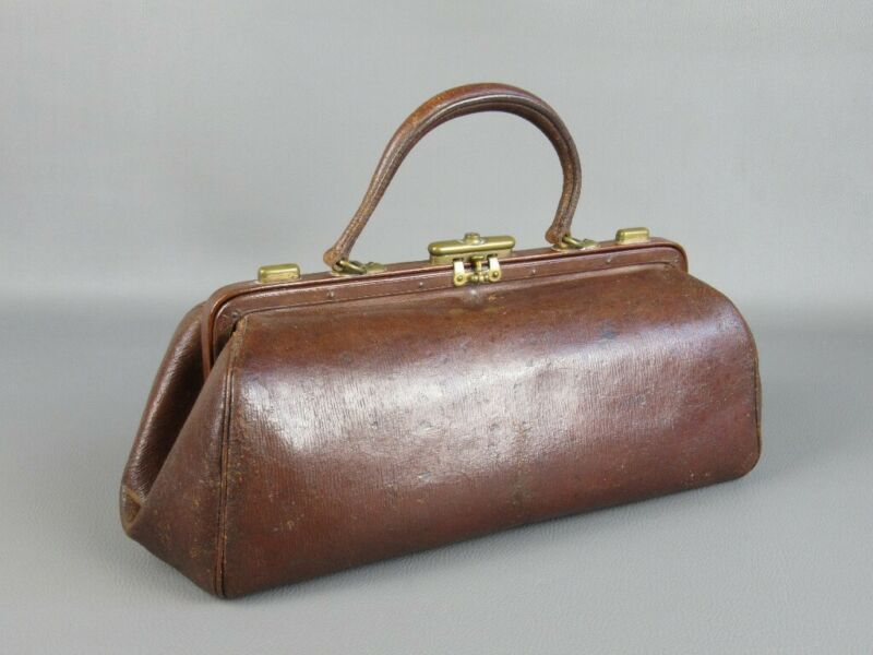 Antique Bag IN Skin Briefcase For Doctor First Xx Century