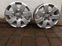 Two alloy wheels for VW T5 van/camper