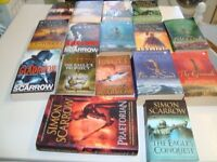 COLLECTION OF SIMON SCARROW'S HISTORICAL FICTION BOOKS IN V GOOD CONDITION