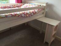 Used White Julien Bowen Kids mid sleeper bed ( single mattress not included)