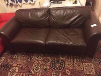 3 seater leather DFS Sofa Montero, very good condition, ex-display DFS RRP £899