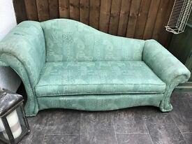 Green chaise longue