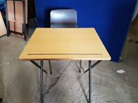 Fold up office desks ideal for training courses etc