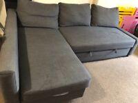 Ikea Friheten coner Sofa bed with storage
