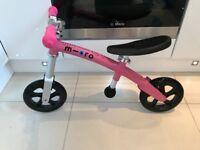 Micro Pink Balance Bike