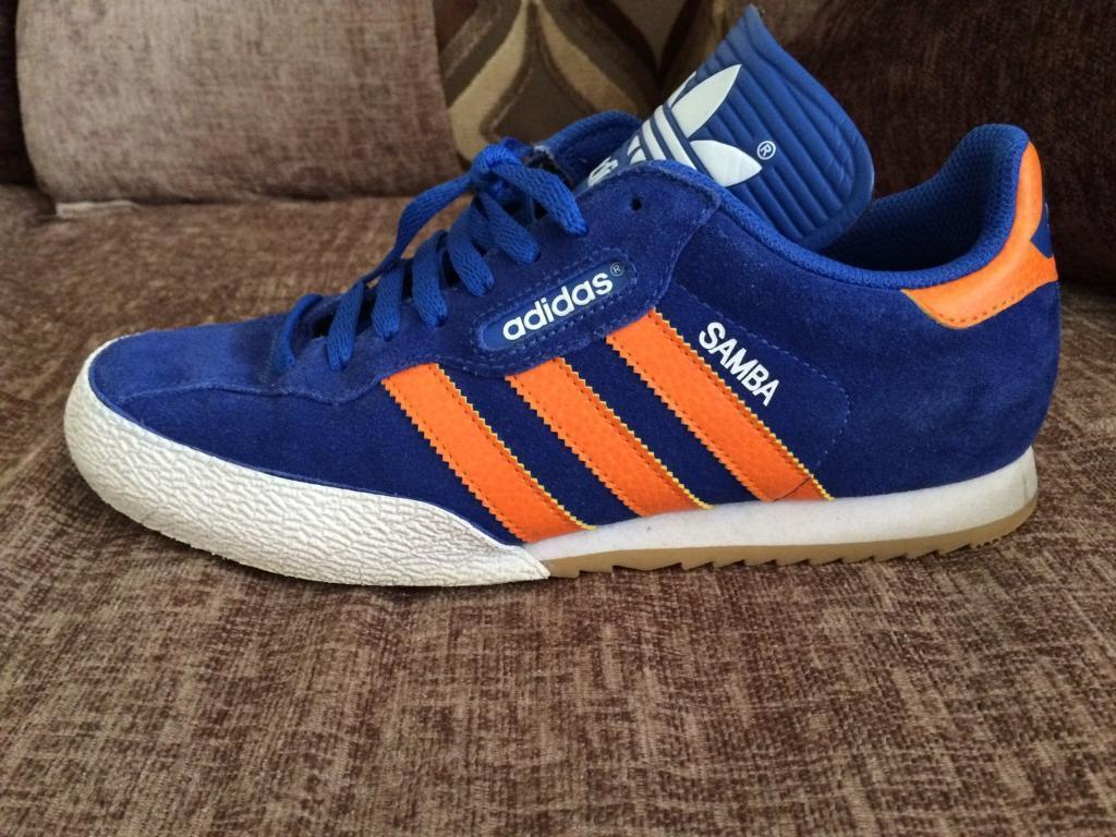 Adidas Samba Worn Mens Adidas Samba Blue And