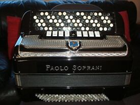 Accordion ( PAOLO SOPRANI ) FIVE ROW - C - SYSTEM with MIDI installed