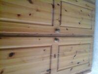 Pine hand made wardrobe
