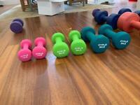 3kg, 2kg, 1kg set dumbbells / weights