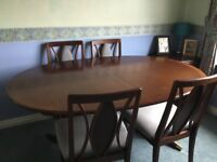 G Plan Dining Table with 4 Chairs (Garrick range)