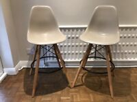 Two Bar Stools Charles Eames Style
