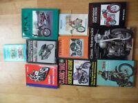 VARIETY OF BRITISH CLASSIC MOTORCYCLE BOOKS