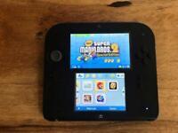 Nintendo 2DS with case and preloaded Mario bro 2
